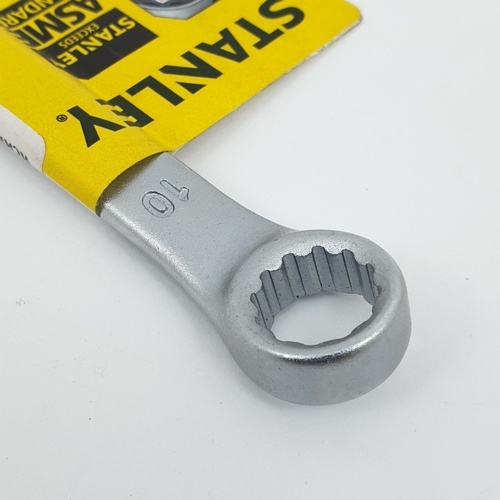 STANLEY ประแจแหวนข้าง ปากตาย 10 มม. STMT80219-8 สีโครเมี่ยม