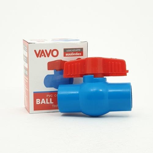 VAVO บอลวาล์วพีวีซี แบบมีเกลียว  3/4นิ้ว สีฟ้า