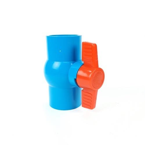 VAVO บอลวาล์วพีวีซี แบบสวม  1-1/2นิ้ว สีฟ้า