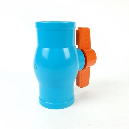 VAVO บอลวาล์วพีวีซี มือจับเอบีเอส แบบสวม 1-1/2นิ้ว NA01 สีฟ้า