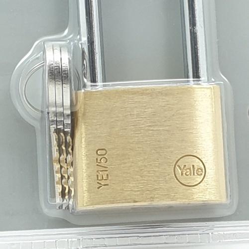 YALE กุญแจคล้อง ห่วงคล้องเหล็กยา ขนาด 50 มม. YE1/50/166/1