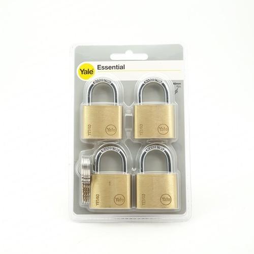 กุญแจคล้อง(4อัน/แพ็ค) ขนาด 40 มม.  YE1/40/122/4