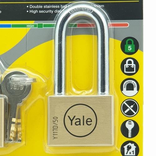 YALE กุญแจคล้อง (2อัน/แพ็ค) ขนาด 50 มม. Y117D/50/127-62/2