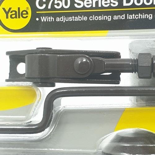 YALE โช๊คอัพประตู ตั้งค้างไม่ได้ รับน้ำหนักได้ 45 กก.  YVC752-BN น้ำตาล