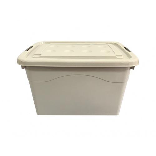 GOME กล่องพลาสติกมีล้อ 80 ลิตร ขนาด 41.5x56.5x32.5ซม.  2BEZ046-GR สีเทา