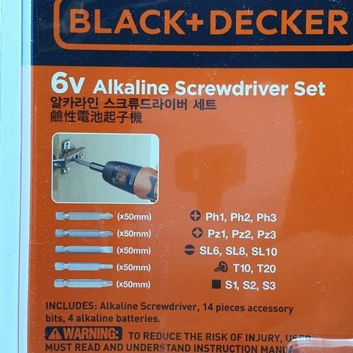 BLACK AND DECKER สว่านไขควงไร้สาย 6V.  รุ่น A7073