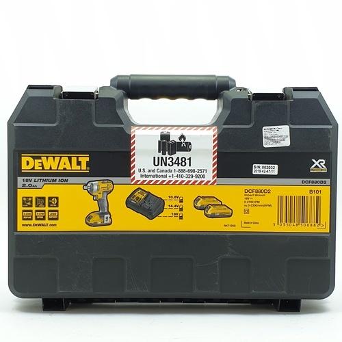 DeWALT บล็อกไฟฟ้าไร้สาย 18V DCF880D2-B1 สีเหลือง