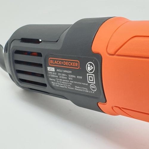 BLACK AND DECKER เครื่องเจียร์ไฟฟ้า 4 นิ้ว 650W G650-B1 สีส้ม