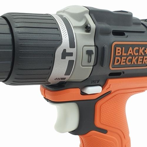 BLACK AND DECKER สว่านไร้สาย 12V. GO PAK  สีส้ม-ดำ BDCHD12US1-B1