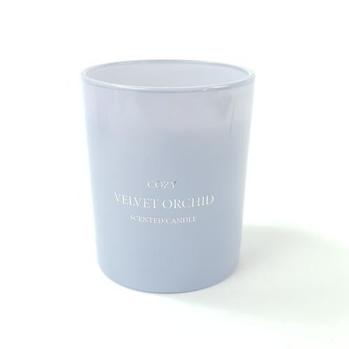 COZY เทียนหอม ขนาด 8.2x9.8 ซม.   Velvet Orchid  สีฟ้า