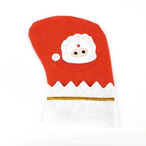 COZY ถุงเท้าประดับตกแต่งคริสต์มาส ขนาด 12x21x16 ซม.  YQ-1074 สีแดง