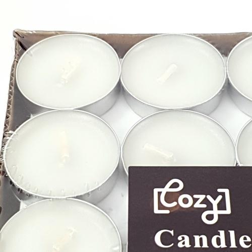 COZY เทียน ขนาด  3.5x0.9ซม.  Candle-WHS  สีขาว