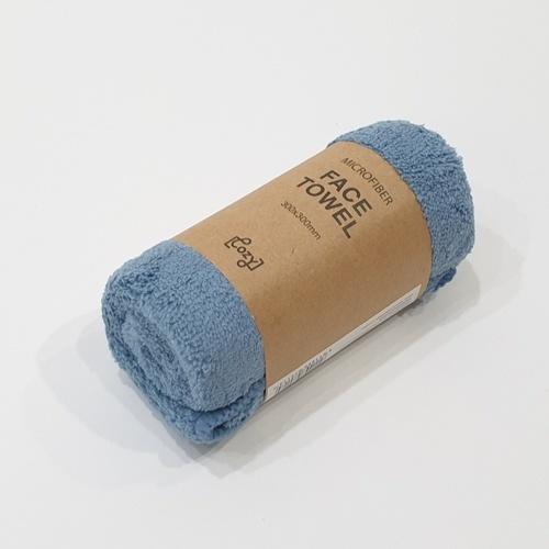 COZY ผ้าเช็ดตัวไมโครไฟเบอร์ 30*30 ซม. สีน้ำเงินเข้ม MFT-3030DB