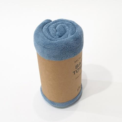 COZY ผ้าเช็ดตัวไมโครไฟเบอร์ 70*140 ซม.สีน้ำเงินเข้ม  MFT-70140DB
