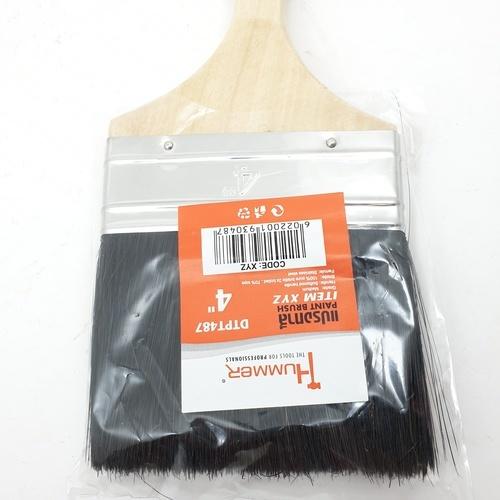HUMMER แปรงทาสี 4นิ้ว DTPT487 สีดำ