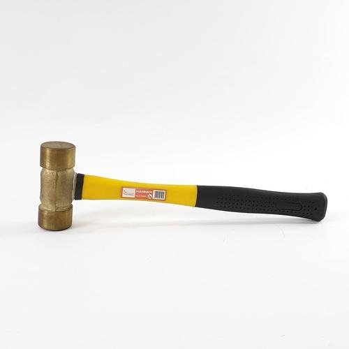 HUMMER ค้อนทองเหลืองด้ามไฟเบอร์ รุ่น ZH0060 2 ปอนด์ 2LB