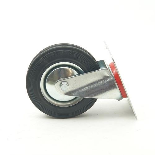 supo ล้ออะไหล่ตาย รถเข็นพื้นเหล็ก  W3001-1 5'' สีโครเมี่ยม