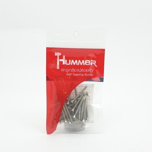HUMMER สกรูเกลียวปล่อยหัว 6x1-1/4นิ้ว(25ตัว/แพ็ค)  F-HM6114 สีโครเมี่ยม