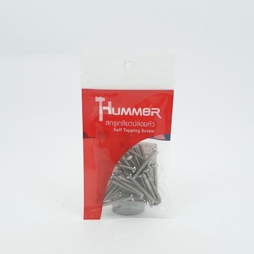 HUMMER สกรูเกลียวปล่อยหัว 7X1-1/4นิ้ว (25ตัว/แพ็ค)  P-HM7114 สีโครเมี่ยม