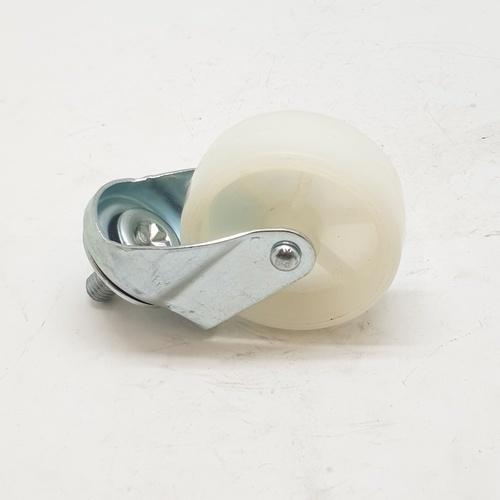 KAMPER ล้อ Nylon เกลียวหมุน 2044-65 สีขาว