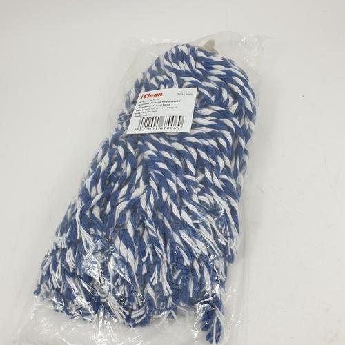 ICLEAN อะไหล่ผ้าม็อปจุก 5นิ้ว สีน้ำเงิน M-3012R สีน้ำเงิน