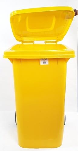 ICLEAN ถังขยะฝาเรียบ  240ลิตร  XDL-240-11Y สีเหลือง