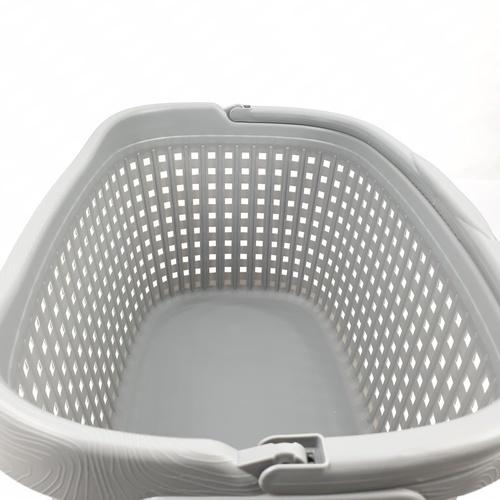 SAKU ตะกร้าผ้าพลาสติกหูหิ้ว 42ลิตร ขนาด60x40x27ซม. TG51900 สีเทา