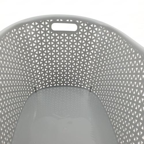 SAKU ตะกร้าพลาสติกมีหู 24ลิตร ขนาด 49.5x35.5x26ซม. TG54739 สีเทา