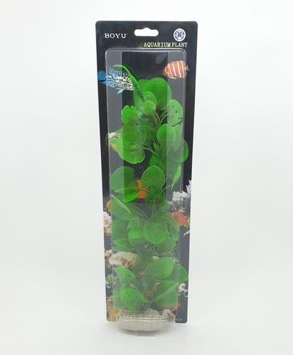 BOYU ต้นไม้เทียมประดับตู้ปลา สูงขนาด  16 นิ้ว  AP-090 เขียว
