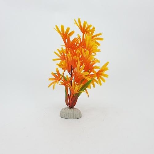 BOYU ต้นไม้เทียมประดับตู้ปลา  AP-049 สูง 8 สีส้ม