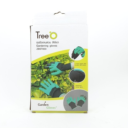 Tree O ถุงมืองานสวน  ZBST003 สีเขียว-ดำ