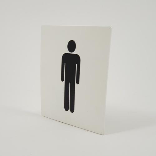 CITY ART ป้ายPP (ห้องน้ำชาย) ขนาด 10x10 ซม. SGB1101-03 สีขาว