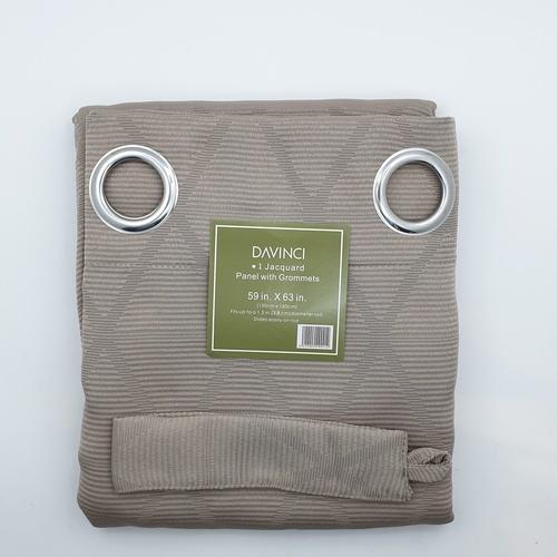 Davinci ผ้าม่านหน้าต่างพิมพ์ลาย  ขนาด 150x160ซม.  AA71779AS#1WD สีเบจ