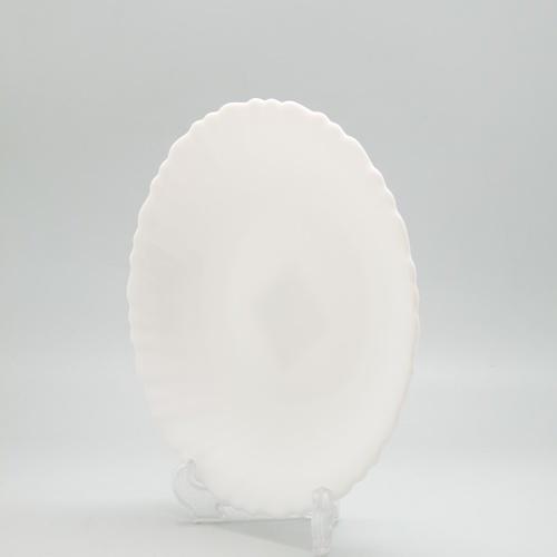 ADAMAS จานก้นลึกโอปอลขอบริ้ว ขนาด 7.5 นิ้ว HBSP75 ขาว