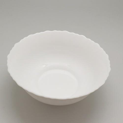 ADAMAS ถ้วยโอปอลขอบริ้ว  ขนาด 6.5 นิ้ว HBDW65 ขาว