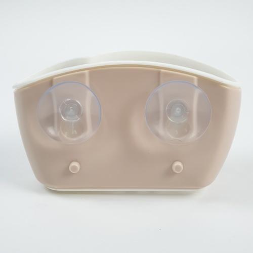 UCHI ตะกร้าใส่ของแบบติดผนัง SG004-BROWN สีน้ำตาลอ่อน