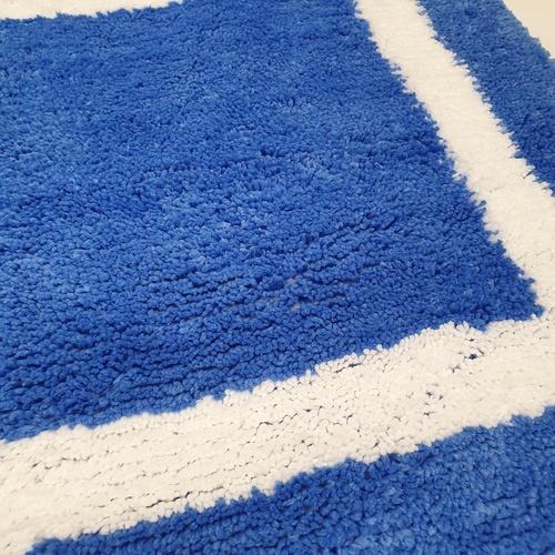 COZY พรมเช็ดเท้า ขนาด 50×80×1.5ซม.  DK24 สีน้ำเงินเข้ม สีฟ้า