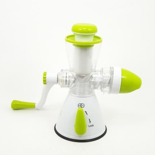 nibiru เครื่องคั้นน้ำผลไม้และทำไอศครีมแบบมือหมุน ขนาด 14.5 x 35 x 29 cm สีขาว-เขียว   ZDS015-WGM