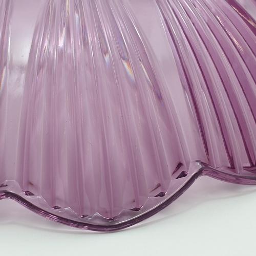 UCHI ถาดพลาสติก  ขนาด Φ20*5 cm  ZHR001-PP สีม่วง