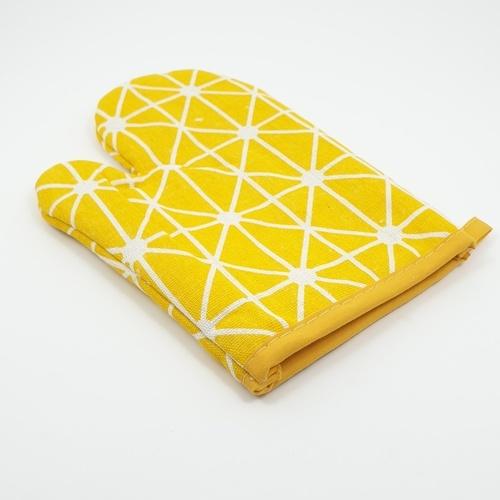 KATELL ถุงมือกันร้อน ลายกราฟฟิค  XFX057   สีเหลือง