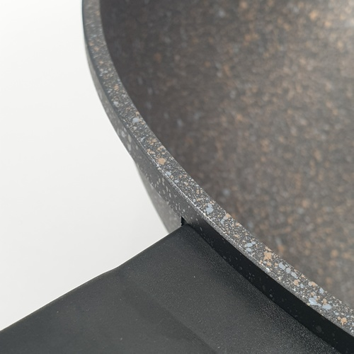 กระทะทรงลึก พร้อมฝาแก้ว  ขนาด 32 ซม. CAK-52888 ดำ