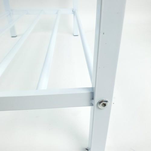 COZY ชั้นวางรองเท้า 2 ชั้น พร้อมเบาะนั่ง ขนาด 60x30x48ซม.  C&D18-702  สีขาว