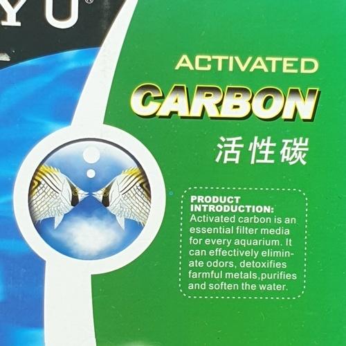 BOYU วัสดุกรองน้ำตู้ปลาคาร์บอน  สีดำ AC-300  ดำ