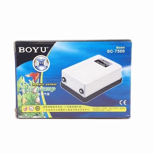 BOYU ปั๊มลมตู้ปลา2 ทาง  SC-7500 สีขาว