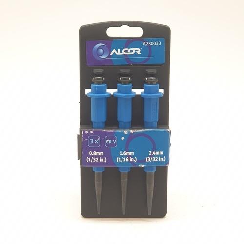 ALCOR ตะปูเจาะชิ้นงาน (3ชิ้น/แพ็ค) A230033  สีน้ำเงิน