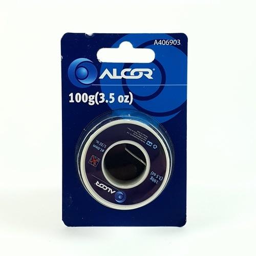 ALCOR ตะกั่วบัดกรี 100G. A406903  สีดำ