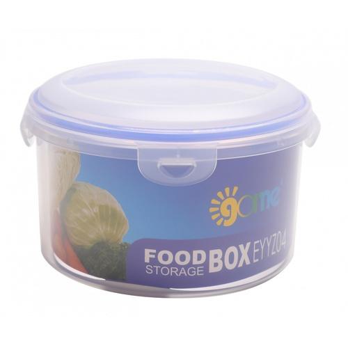 GOME กล่องถนอมอาหารพลาสติกทรงกลม 2100ML.  EYYZ04 สีน้ำเงิน