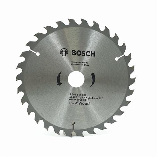 BOSCH ใบเลื่อยวงเดือนEcoตัดไม้ 7 1/4 30T  - สีโครเมี่ยม