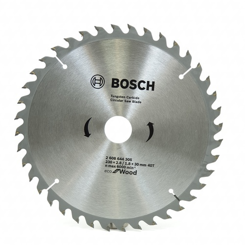 BOSCH ใบเลื่อยวงเดือนEcoตัดไม้ 9 1/4 40T สีโครเมี่ยม