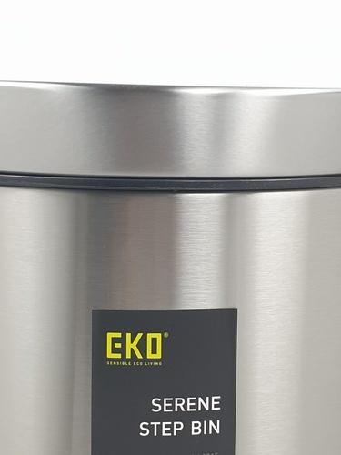 EKO ถังขยะขาเหยียบ ขนาด 8L สีเงิน  EK9215MT